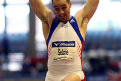 Roman Šebrle in the heptathlon long jump (Getty Images)