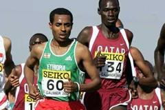 Kenenisa Bekele (left) and Jamal Salem (right) - short race (Getty Images)