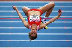 Blanka Vlasic's run of 42 high jump finals over two metres comes to an end as she crashes out of the competition in fifth place having cleared 1.92m (Getty Images)