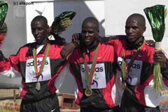 The Junior Men medallists (© Allsport)