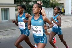 Tirfi Tsegaye at the 2014 BMW Berlin Marathon (organisers / www.photorun.net)