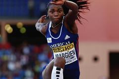 Caterine Ibarguen wins the triple jump at the IAAF Continental Cup, Marrakech 2014 (Getty Images)