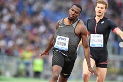 Ameer Webb winning the 200m at the 2016 IAAF Diamond League meeting in Rome  (Gladys Chai)