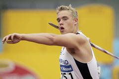 Ari Mannio of Finland in the Javelin (Getty Images)