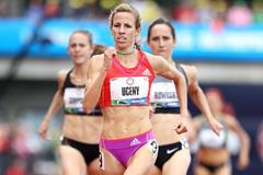 Morgan Uceny takes the US 1500m title in Eugene (Getty Images)