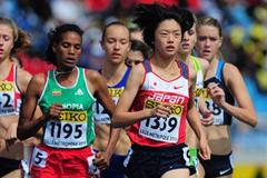 Yui Fukuda of Japan competes in the girls 1500m qualification Day One - WYC Lille 6 July 2011 (Getty Images)