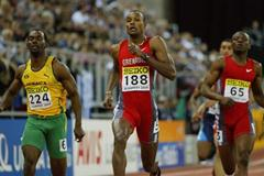 Alleyne Francique (GRN) wins the 400m final (Getty Images)