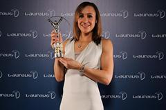 Jessica Ennis with her 2013 Laureus World Sportswoman of the Year award (Getty Images)