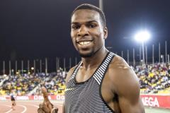 Ameer Webb at the 2016 IAAF Diamond League meeting in Doha (Hasse Sjogren)