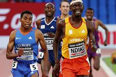 Caleb Ndiku wins the 3000m at the IAAF Continental Cup, Marrakech 2014 (Getty Images)