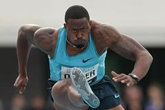 David Oliver at the IAAF World Challenge meeting in Melbourne (Getty Images)