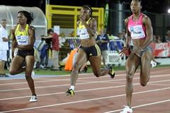 Sherone Simpson in the 100m in Rovereto (Daniele Mosna)