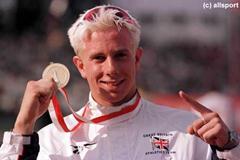 The men's 200m gold medallist Tim Benjamin (© Allsport)
