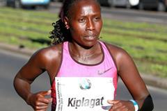 Florence Kiplagat at the 2013 BMW Berlin Marathon (Victah Sailer / organisers)