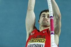 Andrei Krauchanka of Belarus competes in the Men's Pole Vault in the Heptathlon during day two - WIC Istanbul (Getty Images)