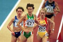 Lisbon 2001 Women's 3000m heats (© Allsport)