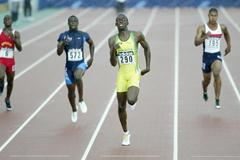 Usain Bolt of Jamaica winning the 200m final (Getty Images)