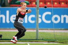 Betty Heidler in action in the Hammer at the 2013 European Team Championships (Getty Images)