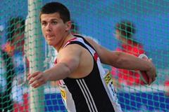 Nicholas Percy of Great Britain in action in the boys Discus final - Day one of WYC LILLE (Getty Images)