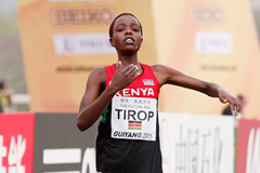 Agnes Tirop winning at the IAAF World Cross Country Championships, Guiyang 2015 (Getty Images)