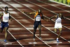 Finish of World Cup 100m in Madrid (Getty Images)