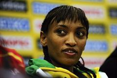 Meselech Melkamu of Ethiopia at the IAAF World Cross Country Championships Press Conference in Punta Umbria (Getty Images)