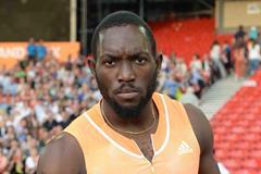 Nickel Ashmeade after winning the 100m at the 2014 IAAF Diamond League in Glasgow (Jiro Mochizuki)