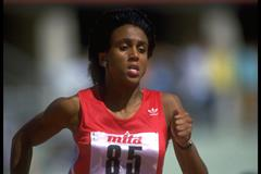 Charmaine Crooks at the 1987 IAAF World Championships (Getty Images)