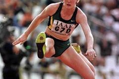 Australia's Jana Pittman during the 400m hurdles (© Allsport)