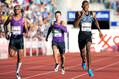 Steven Gardiner wins the 400m at the IAAF Diamond League meeting in Oslo (Mark Shearman)