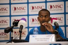 Mutaz Barshim ahead of the 2014 Diamond League meeting in Doha (Deca Text & Bild)
