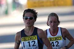 Christine Clinton and Bev Jenkins (IAAF)