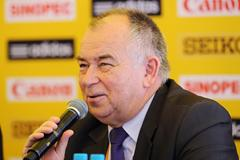 Jerzy Skucha, Polish Athletics Federation President, at the IAAF Press Conference on the eve of the IAAF World Cross Country Championships, Bydgoszcz, Poland, Saturday 23 March (Getty Images)