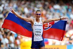 50km race walk winner Matej Toth at the IAAF World Championships, Beijing 2015 (Getty Images)