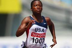 Lauryn Williams of the US in the heats of the women's 100m (Getty Images)