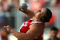 Christina Schwanitz wins the German shot put title (Getty Images)