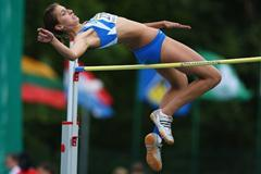 Alessia Trost of Italia on her to winning the Girls' High Jump final (Getty Images)