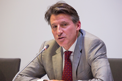 IAAF President Sebastian Coe at the 2015 IAAF Council Meeting in Monaco (Philippe Fitte / IAAF)