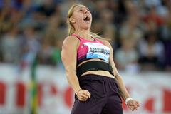 Javelin winner Maria Abakumova at the 2013 IAAF Diamond League meeting in Zurich (Jiro Mochizuki)