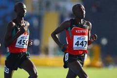 Josphat Kipkoech Bett of Kenya on his way to winning the Men's 10,000m gold medal (Getty Images)