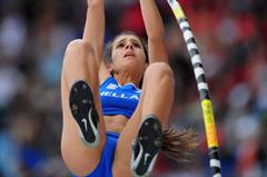 Yeoryia STEFANIDI of Greece in action in the Girls Pole Vault final - Day Four - WYC Lille 2011 (Getty Images)