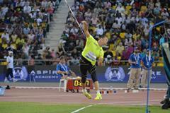 Tero Pitkamaki, winner of the javelin at the 2015 IAAF Diamond League meeting in Doha (DECA Text & Bild)