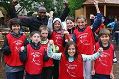 IAAF Ambassador Wilson Kipketer during Kids' Athletics (Getty Images)