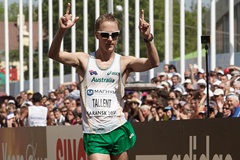 Jared Tallent wins the 50km at the IAAF World Race Walking Cup (Getty Images)