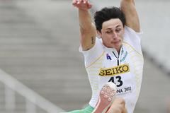 Jake Stein of Australia competes during the Men's Long Jump portion of the Decathlon event on the day one of the 14th IAAF World Junior Championships in Barcelona (Getty Images)