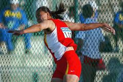 Xuejun Ma of China wins gold in the women's Discus final (Getty Images)