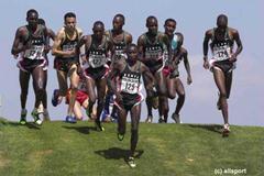 Scenes from the men's long race in Vilamoura (© Allsport)
