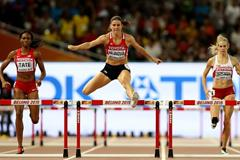 Zuzana Hejnova on her way to winning the 400m hurdles at the IAAF World Championships, Beijing 2015 (Getty Images)