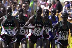 The Kenyan team lead the field in Vilamoura (© Allsport)