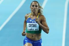 Geisa Coutinho of Brazil competes in the Women's 400 Metres first round Day One - WIC Istanbul (Getty Images)